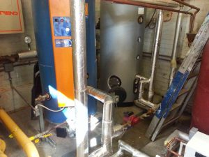 Installation of hot water cylinders and buffer vessels at Dulwich College (1)