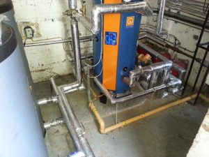Installation of hot water cylinders and buffer vessels at Dulwich College (2)