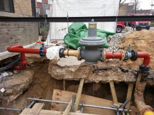 Installation of new gas main at Priory Green, North London (11)