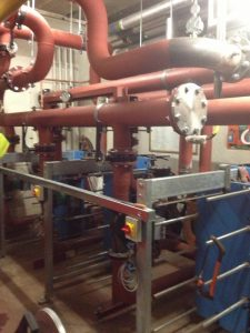Installation of plate heat exchangers at Capital House, Edgware Road, London (2)