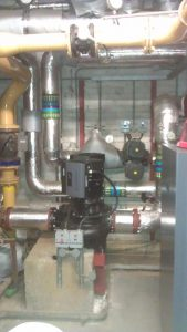 Installation of twin head pump at Dulwich College