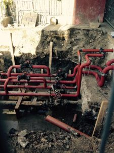 New bespoke valve pits, dug and installed for heating at Priory Green, North London (3)