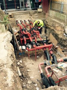New bespoke valve pits, dug and installed for heating at Priory Green, North London (4)