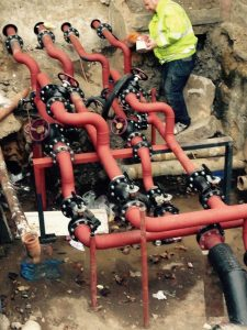New bespoke valve pits, dug and installed for heating at Priory Green, North London (5)