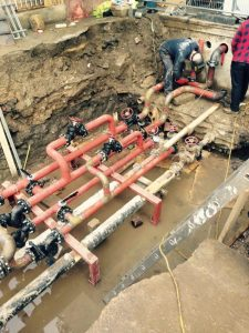 New bespoke valve pits, dug and installed for heating at Priory Green, North London (7)