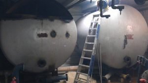 Removal of old swimming pool filter tanks at Dulwich College (1)