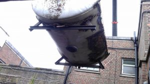 Removal of old swimming pool filter tanks at Dulwich College (3)