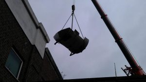Removal of old swimming pool filter tanks at Dulwich College (5)