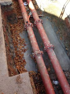Replacement of heating pipework at Dulwich College (5)